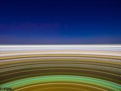 Aerial Light Trails (torqueabhi) Tags: park longexposure blue sky field night landscape lights pattern texas unitedstates outdoor horizon curves trails experiment aerial citylights slowshutter irving phantom aerialphotography lightroom 4k drone lightstream phantom3 lighttrials