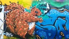 Graff in Grenoble (brigraff) Tags: streetart grenoble painting drawing cureuil sprayart brigraff