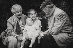 Grandparents (siebe ) Tags: family portrait blackandwhite baby holland netherlands girl monochrome dutch children photoshoot grandmother familie kinderen nederland oma generations portret opa generation kleinkinderen fotoshoot 2016 generatie grootouders