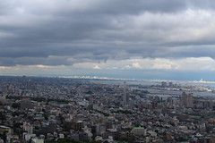 Overview of Kobe. Also the city of Osaka is in the background bathed in light. (swanze2019) Tags: japan tram kobe ropeway herbgardens