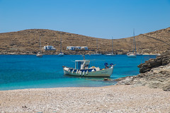 Summer in Greece (Vagelis Pikoulas) Tags: travel blue sea summer seascape beach canon landscape boat fishing europe view aegean july tokina greece 6d 2016 2470mm kyklades kythnos