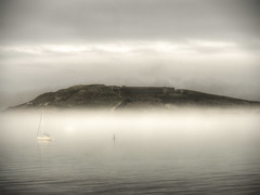Fort Albert on top of the fog, Alderney (neilalderney123) Tags: weather olympus alderney braye fortalbert foc brayebay 2016neilhoward