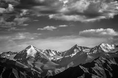 Stok  S i e r r a (_Amritash_) Tags: travel blackandwhite mountains monochrome clouds leh himalayas ladakh stokrange mountainscape snowcappedmountains snowcappedpeaks mountainpeak colorsofindia monochromemadness colorsofladakh himalayanranges