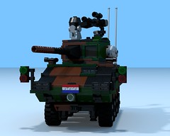Boktor-2 APC IFV (The Driving Dutchman) Tags: red man 6x6 by army with cross lego military transport ambulance armored carrier povray personnel semitrailer 8x8 ldd 453 ldd2povray boktor2