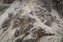 Cabin fever. (Walter Verburgt) Tags: nature fever cabin texture mountains rock hiking walking dolomite italy outside outdoor landscape rockface giant