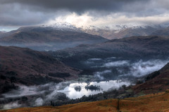 Mist over Rydal (diesmali) Tags: uk morning travel vacation england mist mountain lake snow mountains nature clouds island islands unitedkingdom outdoor rydal valley cumbria thelakedistrict rydalwater canonef24105mmf4lisusm canoneos6d southlakelanddistrict