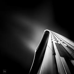 Skygarden (Halognure) Tags: city longexposure england sky blackandwhite abstract black london art skyscraper europe space fineart wideangle filter