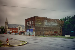 Rainy Day in Cairo (Pete Zarria) Tags: illinois cairo depressed abandoned sign ghost wrigley gum decaying dyingtown