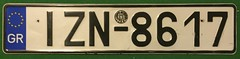 GREECE LICENSE PLATE with SEAL (woody1778a) Tags: greek greece europe europa licenseplate numberplate mycollection myhobby alpca1778 registrationplate hobby