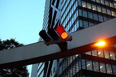 Red LED Lights (hidesax) Tags: leica urban building japan tokyo shinjuku cityscape dusk x vario hidesax redledlights