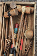 Croquet (skipmoore) Tags: ball sanrafael mallet croquet frenchantiquefair