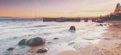 Speedboat Beach, Lake Tahoe (Christopher Chan) Tags: california sunset beach water canon pier sand rocks waves speedboat laketahoe boulders northamerica 5d 1740mm mkiii mk3