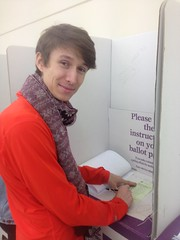 Tristram Chellew for The Sex Party casting his vote #Wills2016 (John Englart (Takver)) Tags: election wills sexparty glenroy prepoll ausvotes ausvotes2016 wills2016