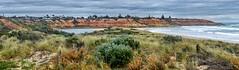 Onkaparinga river mouth (Kev Anderson) Tags: panorama seascape storm cold australia estuary southaustralia stitched portnoarlunga nikor 18140 microsoftsice