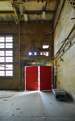 Red Doors (synestheticstrings) Tags: summer plant toronto art station festival architecture industrial waterfront decay urbandecay arts landmark hearn decommissioned 2016 portlands generating rlhearn hearngeneratingstation luminato richardlhearn turnonthehearn luminato10