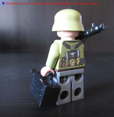 LEGO German WWII heavy machine gunner with MG-42 and ammo case (dmikeyb) Tags: soldier gun lego box wwii machine case german ww2 minifig heavy ammo gunner minifigure mg42