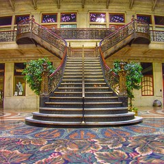 Buffalo NY ~ Ellicott Square Building ~ Grand Staircase (Onasill ~ Bill Badzo) Tags: street building architecture square see design buffalo downtown floor interior main grand landmark historic staircase dh must romanesque burnham attraction ellicott eriecounty 1896 terrazo nrhp onasill