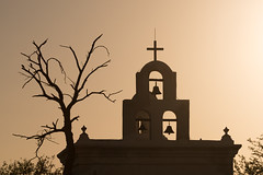 San Xavier (armand.gerstenberger) Tags: ifttt 500px san xavier del bac tucson arizona sunset cross bells missionary spanish mission glow tree sillhouette light shadow church catholic bird nikon d810 southwest roadtrip armand gerstenberger architecture tohono desert 1797 golden hour oodham