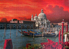 Grand Canal, Venice (pefkosmad) Tags: venice sunset italy hobby puzzle leisure jigsaw grandcanal complete pastime ravensburger 1000pieces
