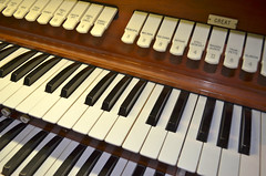 Organ keyboard detail  2