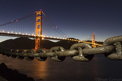 Fort Point, SF (cowart_brian) Tags: sf sanfrancisco longexposure nightphotography travel lightpainting motion canon landscape photography chains famous entrance bridges roadtrip adventure explore pch goldengatebridge sanfran fortpoint thebay frisco hwy1 twlight photooftheday goldenstate citybythebay worldfamous lookgoodfeelgood cityandcounty canon7d briancowartphotography leftmyheartin