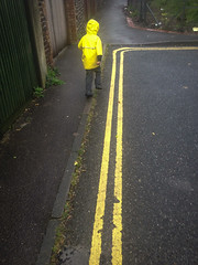 School Run Rituals (The Double Yellow Line Race)_06 (a roving eye) Tags: boy yellow brighton child run doubleyellowlines iphone paulmansfield schoolrun arovingeye