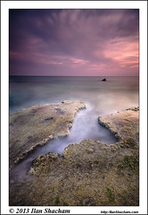 Into the groove (Ilan Shacham) Tags: ocean longexposure sunset sea seascape beach water beauty rock vertical clouds landscape coast israel fantastic mediterranean dusk infinity fineart scenic shipwreck fantasy le groove hull dor chasm endless habonim fineartphotography