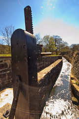 Lock (Saturated Imagery) Tags: canal yorkshire dslr huddersfield marsden colnevalley huddersfieldnarrowcanal sigma1020mmf35 canoneos60d photoshopelements9