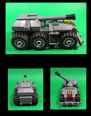 Self Propellrd Howitzer unit (Karf Oohlu) Tags: lego vehicle towtruck afv moc howitzer armouredvehicle microscale recoveryvehicle