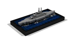 Micro Battleship (rendered) (Kit Bricksto) Tags: scale lego military wwii navy destroyer micro battleship rendered moc ldd