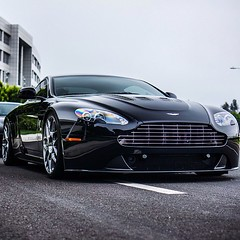 "Aston Martin V12 Vantage looking extra stellar on @HRE_wheels! Describe this beauty with words starting with ""S""! (exoticluxury) Tags: square squareformat astonmartin iphoneography v12vantage instagramapp"