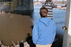 (zachoulton) Tags: bridge summer film boys analog river hair winnipeg pentax filmphotography