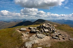 Summit of Beinn a' Chocuill (Nick Bramhall) Tags: summit sh cairn munro