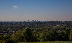 View over London from South Terrace (SarahO44) Tags: park uk england london skyline ally view unitedkingdom terrace south united north steps kingdom palace peoples alexandra wharf canary shard pally