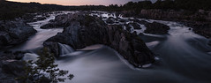 Great Falls [07.06.13] (Andrew H Wagner | AHWagner Photo) Tags: park longexposure sunset panorama nature water 35mm canon river landscape eos virginia waterfall nationalpark twilight rocks f14 pano greatfalls panoramic falls waterfalls potomac potomacriver stitched waterscape greatfallspark greatfallsnationalpark 35l f14l dpswater 5dmkiii 5dmk3 5d3 5dmarkiii 5dmark3