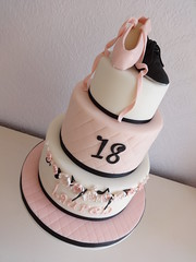Ballet and Tap Shoe Cake (Julia Hardy Cakes) Tags: birthday pink ballet music girl cake shoe dance notes musical and tap essex slipper fondant