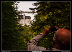 Shooting (Mark Horvath) Tags: park bridge summer alps green tower castle nature forest canon germany bayern deutschland bavaria eos daylight europe neuschwanstein centraleurope southerngermany 50d mrc6