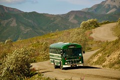 Denali National Park (Bus Tour) (faungg's photos) Tags: trip travel blue trees summer vacation sky usa mountains green nature alaska landscape us scenery scenic ak 夏 旅游 风景 自然 tourbus denalinationalpark 美国 阿拉斯加 国家公园