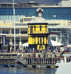 waterfront clocktower facelift - red to yellow (WITHIN the FRAME Photography(5 Million views tha) Tags: architecture harbor waterfront landmark capetown clocktower 135mm