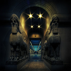 Guardians (murphyz) Tags: london austen stone museum ancient interior lion culture statues bull henry human british winged protection heir colossal guardian lamassu assyria ashur guardians londonist mythological ashurnasirpal nimrud layard vision:night=078