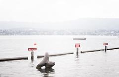 Lake (sandronimus) Tags: autumn switzerland zurich publicbath lido strandbad tiefenbrunnen zurichsee sigma50mmf14 sonya200