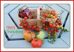 Happy Thanksgiving! (bigbrowneyez) Tags: stilllife food holiday canada fruits beautiful vegetables juicy pretty basket branches tomatoes joy harvest tasty fresh celebration delicious dolce frame colourful fabulous delicate salsa festivities edible artful cherrytomatoes picnictable cornice frutti bellissima gratefulness longweekend happythanksgiving buoni canadianholiday moltobella