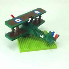 nanoblock Sopwith Camel F.1 (inanoblock) Tags: world plane war fighter lego bricks f1 camel blocks ww1 build sopwith biplane nanoblock  nanoblocks