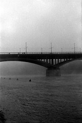 Bridge (dongga BS) Tags: classic schweiz switzerland sam herbst basel rhein morgen ilford morgens rheinufer wettsteinbrcke ilforddeltaprofessional3200 canonef50mmf12lusm sprsinn rheinboard sprsinnsamclassic schweizcanoneos3 ilforddeltaprofessional3200800