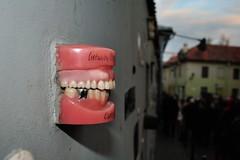 Teeth (sssssoc) Tags: streetart wall europe teeth baltic lithuania vilnius dentures