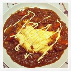 วันนี้ติดตามข่าวการเมืองทั้งวัน       มื้อเย็นเลยขอจัดหนักเป็นอาหารญี่ปุ่น - โฮมเมดข้าวเเกงกะหรี่เนื้อสับไข่ข้นสไตล์ญี่ปุ่น ...อร่อยเริ่ด