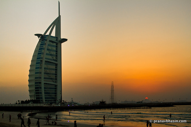 Sunset On The Beach, Burj Al Arab, Dubai