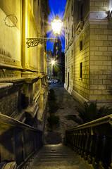 """In fondo al vicolo un campanile di """"martorana""""... (Peppis) Tags: night nikon chiesa sicily bluehour palermo sicilia nationalgeographic orablu martorana peppis nikond7000 nikonclubit"""
