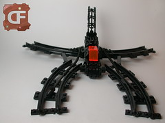 "VV-""Drahtengel"" (Dead Frog inc.) Tags: dark lego space creation fantasy vic spaceship organic viper own spacecraft moc bioorganic"