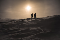 On Top Of The World (davebrosha) Tags: silhouette landscape military north arctic nunavut patrol armed canadianforces canadianrangers davebroshaphotography wardhuntisland operationnunalivut